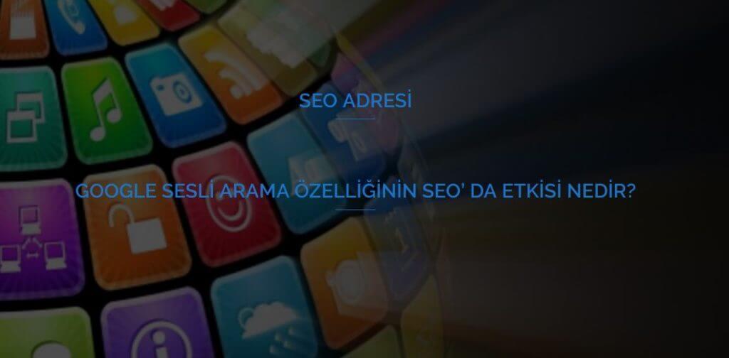 Google Sesli Arama Özelliğinin SEO' da etkisi Nedir